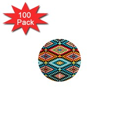African Tribal Patterns 1  Mini Magnets (100 Pack)  by Samandel