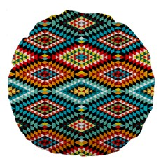 African Tribal Patterns Large 18  Premium Flano Round Cushions