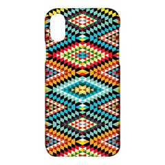 African Tribal Patterns Apple Iphone X Hardshell Case by Samandel