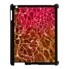 Background Water Abstract Red Wallpaper Apple Ipad 3/4 Case (black)