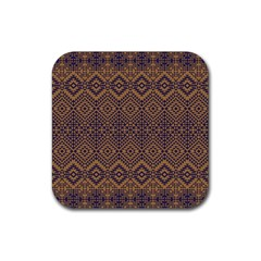 Aztec Pattern Rubber Square Coaster (4 Pack)