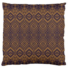 Aztec Pattern Large Flano Cushion Case (two Sides) by Samandel