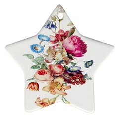 Fleur Vintage Floral Painting Star Ornament (two Sides) by Samandel
