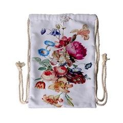 Fleur Vintage Floral Painting Drawstring Bag (small)