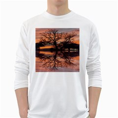 Aurora Sunset Sun Landscape Long Sleeve T Shirt