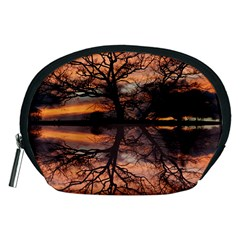 Aurora Sunset Sun Landscape Accessory Pouch (medium) by Samandel