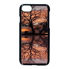 Aurora Sunset Sun Landscape Apple Iphone 7 Seamless Case (black)