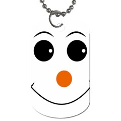 Happy Face With Orange Nose Vector File Dog Tag (one Side)