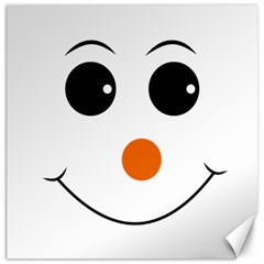 Happy Face With Orange Nose Vector File Canvas 20  X 20  by Samandel