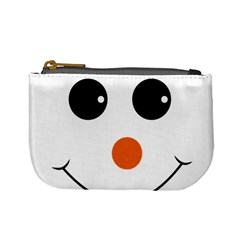 Happy Face With Orange Nose Vector File Mini Coin Purse