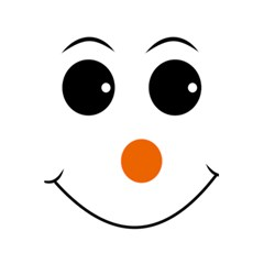 Happy Face With Orange Nose Vector File 5 5  X 8 5  Notebook by Samandel