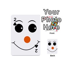 Happy Face With Orange Nose Vector File Playing Cards 54 (mini) by Samandel
