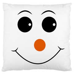 Happy Face With Orange Nose Vector File Large Cushion Case (two Sides)