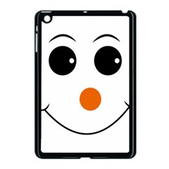 Happy Face With Orange Nose Vector File Apple Ipad Mini Case (black) by Samandel