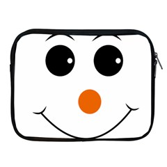 Happy Face With Orange Nose Vector File Apple Ipad 2/3/4 Zipper Cases by Samandel