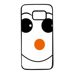 Happy Face With Orange Nose Vector File Samsung Galaxy S7 Black Seamless Case