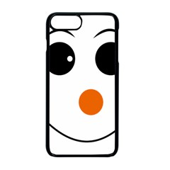 Happy Face With Orange Nose Vector File Apple Iphone 7 Plus Seamless Case (black)