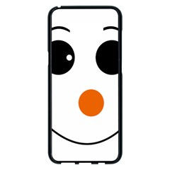 Happy Face With Orange Nose Vector File Samsung Galaxy S8 Plus Black Seamless Case