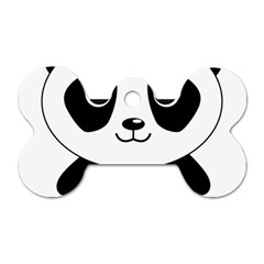 Bear Panda Bear Panda Animals Dog Tag Bone (one Side)