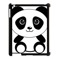 Bear Panda Bear Panda Animals Apple Ipad 3/4 Case (black) by Samandel