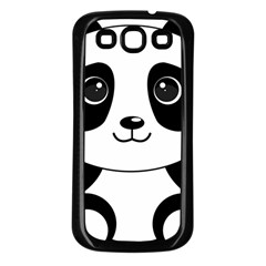 Bear Panda Bear Panda Animals Samsung Galaxy S3 Back Case (black)