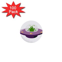 Ufo 1  Mini Buttons (100 Pack)