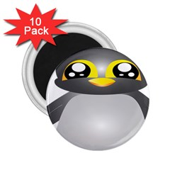 Cute Penguin Animal 2 25  Magnets (10 Pack)