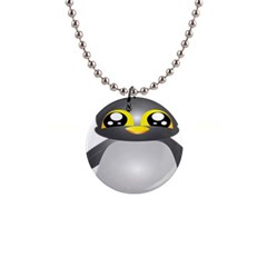 Cute Penguin Animal Button Necklaces by Samandel