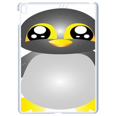 Cute Penguin Animal Apple Ipad Pro 9 7   White Seamless Case