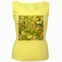 Simple Map Of The City Women s Yellow Tank Top