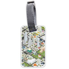Simple Map Of The City Luggage Tags (two Sides) by Samandel