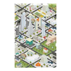 Simple Map Of The City Shower Curtain 48  X 72  (small)