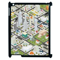 Simple Map Of The City Apple Ipad 2 Case (black)