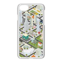 Simple Map Of The City Apple Iphone 7 Seamless Case (white)