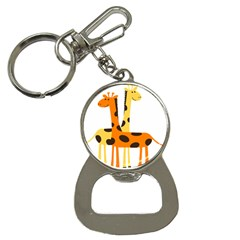 Giraffe Africa Safari Wildlife Bottle Opener Key Chains