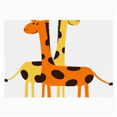 Giraffe Africa Safari Wildlife Large Glasses Cloth (2 Side) by Samandel