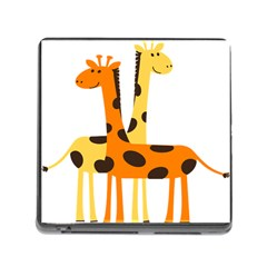 Giraffe Africa Safari Wildlife Memory Card Reader (square 5 Slot)