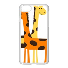 Giraffe Africa Safari Wildlife Apple Iphone 8 Seamless Case (white)