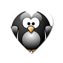 Penguin Birds Aquatic Flightless Heart Magnet