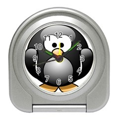 Penguin Birds Aquatic Flightless Travel Alarm Clock