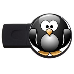 Penguin Birds Aquatic Flightless Usb Flash Drive Round (4 Gb)
