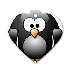 Penguin Birds Aquatic Flightless Dog Tag Heart (one Side)