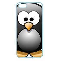 Penguin Birds Aquatic Flightless Apple Seamless Iphone 5 Case (color)
