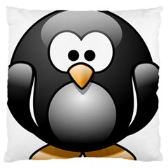 Penguin Birds Aquatic Flightless Large Flano Cushion Case (one Side)