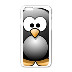 Penguin Birds Aquatic Flightless Apple Iphone 6/6s White Enamel Case