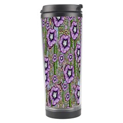 Jungle Fantasy Flowers Climbing To Be In Freedom Travel Tumbler by pepitasart
