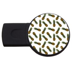 Pinapples Usb Flash Drive Round (2 Gb) by snowwhitegirl