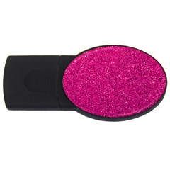 Hot Pink Glitter Usb Flash Drive Oval (4 Gb) by snowwhitegirl
