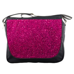 Hot Pink Glitter Messenger Bag