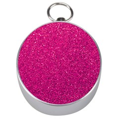 Hot Pink Glitter Silver Compasses